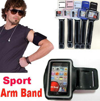 Wholesale Iphone Jacket Case - sport Arm band Leather Jacket Belt Clip Case Waterproof running phone Gym Pouch for Mobile phone