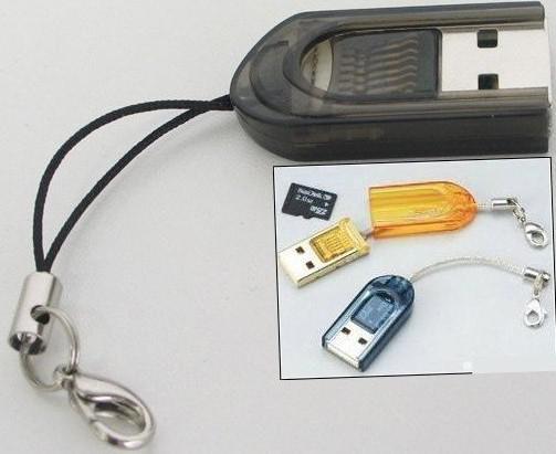 무료 배송 마이크로 SD T- 플래시 TF에 대 한 엄지 고속 메모리 카드 판독기