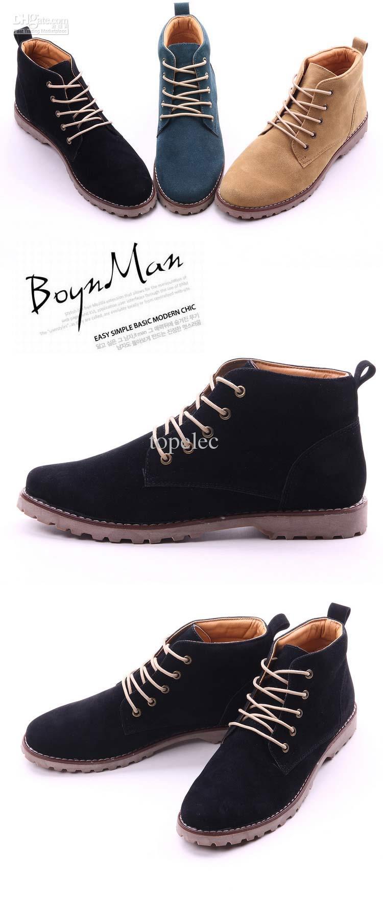 2015 Fashion Shoes New Style Men Shoes Fashion Men Short Boots ...