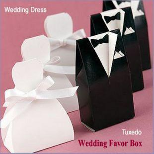Personalized Wedding Dress Tuxedo Favor Gift Boxes Wedding Favor