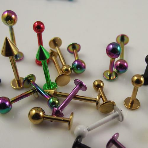Fashion Lip Ring Labret Ring body Jewelry Colorful Labret Piercing Jewelry Promo