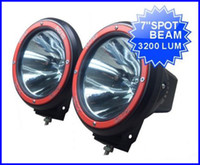 "Wholesale Hid Xenon Driving Lighting Kits - PAIR 7"" 55W 12V HID XENON 9-32V SUV ATV DRIVING SPOT OFFROAD LIGHT 4WD 4X4 W BUILT IN BALLASTS 6000K"