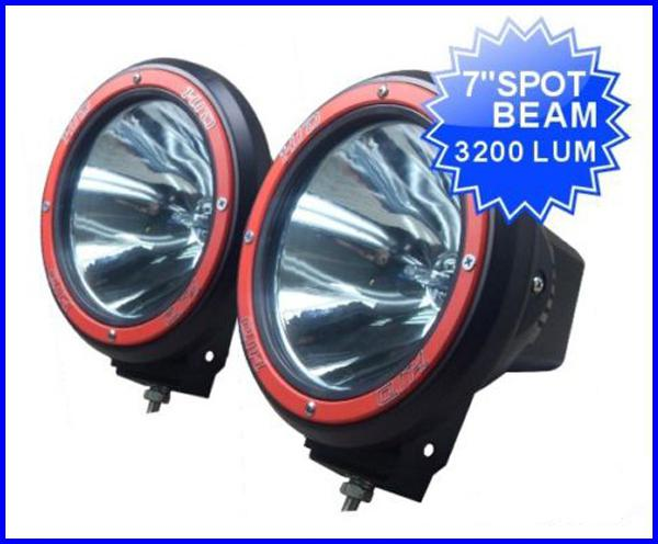 """best selling PAIR 7"""" 55W 12V HID XENON 9-32V SUV ATV DRIVING SPOT OFFROAD LIGHT 4WD 4X4 W BUILT IN BALLASTS 6000K"""