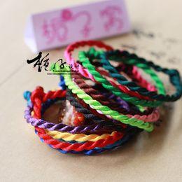 Seil nylon knoten armbänder online-Farbe Armbänder Hand verknotete Seil Handketten Sport Nylon Nylon Weben