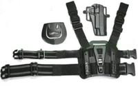 ingrosso goccia gamba-Tactical Puttee Thigh Drop Leg holster Pouch Pistol Black Tan Leg Holster per 1911