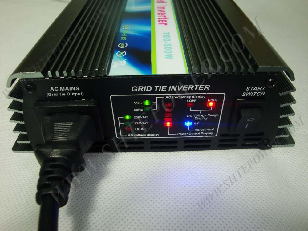 500 W On Grid Tie Solar Power Inverter, DC 24V / 36V / 48V naar AC 220V, 230V, 240V 190-260V