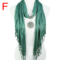 Wholesale Triangle Shaped Scarves - Fashion jewelry Triangle shaped women shawl ,vintage alloy Pendants Jewelry scarves necklace for women accessories ,9colors,NL-1677