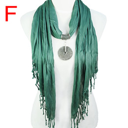 Wholesale triangle scarves for women - Fashion jewelry Triangle shaped women shawl ,vintage alloy Pendants Jewelry scarves necklace for women accessories ,9colors,NL-1677