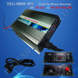 Wholesale Grid Tie Micro - Free Shipping 500w micro Grid Tie Solar Power Inverter, DC 15V~60V to AC 220V
