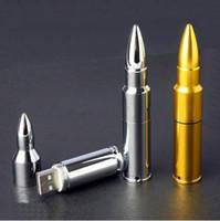 unidades flash al por mayor-Memoria USB de 4 GB 8 GB 16 GB con forma de bala de metal y memoria USB 2.0