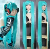 Wholesale Miku Wigs - Wow! Vocaloid Miku Cosplay Pervcke Manga Anime Perruques Wigs