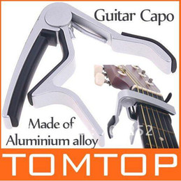 Wholesale High Quality Acoustic Guitars - High Quality Aluminium alloy Tune Quick Change Clamp Key Capo For Electric acoustic Guitar I59S