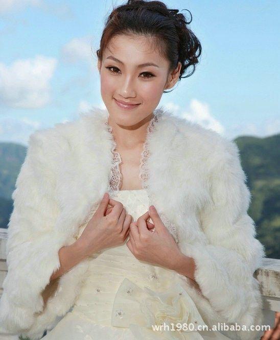 Factory Outlets Bridal Coat Shawl Wool Shawls Bolero Jacket With White Lace Wedding Dresses