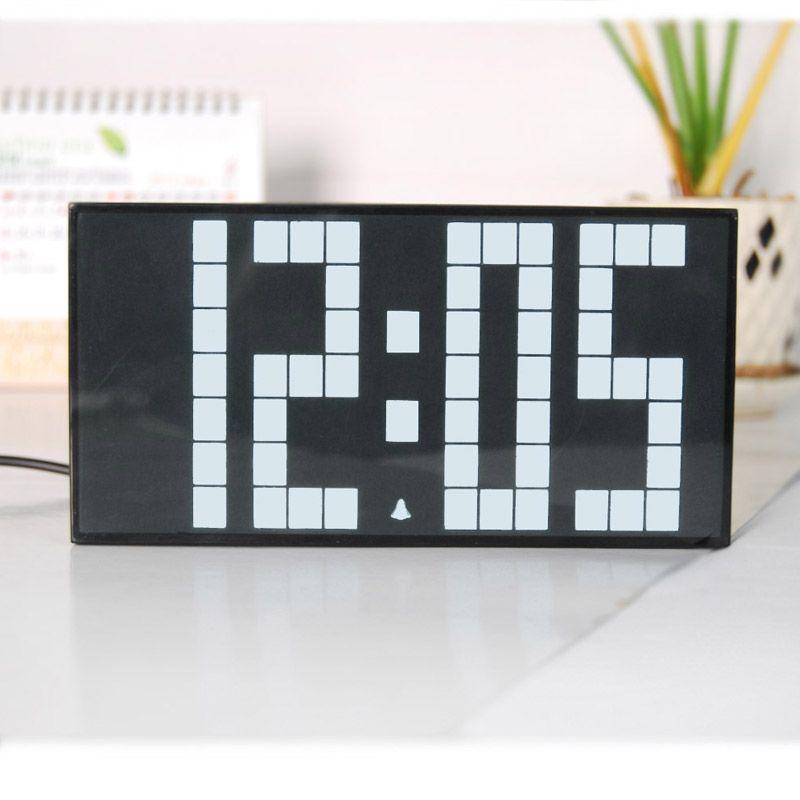 Large LED Display Board Digital Alarm Clock Decor Table Clock Small Size  Office Clock Student Alarm Clock