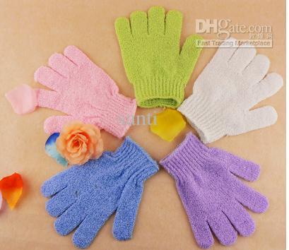 Tyg Mitt Exfoliating Ansikte eller Body Bath Skrubba Fuktgivande Handskar