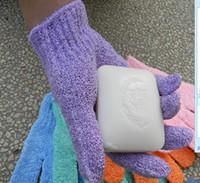 yüz zayıflama eldiveni toptan satış-Bez Mitt Peeling Yüz veya Vücut Banyo Fırçalayın Nemlendirici eldiven
