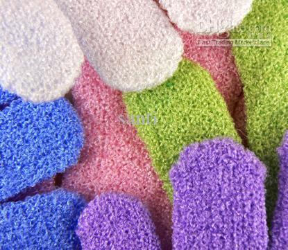 Bez Mitt Peeling Yüz veya Vücut Banyo Fırçalayın Nemlendirici eldiven