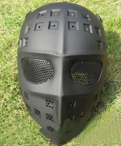 Nouveau masque tactique plein airsoft net de haute qualité masque en plastique noir