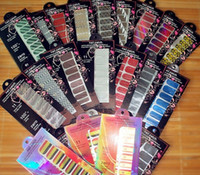 Wholesale Nail Art Armour Wraps - 600+ styles Nail Foil Art Armour Metallic Nail Patch Minx Nail Wraps Sticker 16pcs set