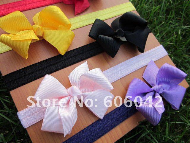 Baby elastische hoofdbanden, zachte stel hoofdband met 3.3