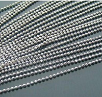 Wholesale 100pcs common Dog Tag Ball Chain Necklaces mm cm Bead ball stainless bead chain TB1