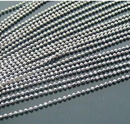 100 pcs commun Chien Tag Boule Chaîne Colliers 2.4mm * 55cm Perle boule inoxydable perle chaîne TB1 livraison gratuite en Solde