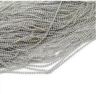 100 stks Gemeenschappelijke Dog Tag Bal Chain Kettingen 2.4mm * 55cm Bead Ball Roestvrij Bead Chain TB1 gratis verzending