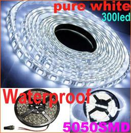 2019 led-streifen für aquarium 5M weißes SMD 5050 flexibles LED-Streifen-Licht reines Weiß 300LED imprägniern dekorative Hauptbeleuchtung 10m