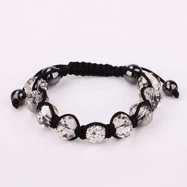 Estoque de baixo preço de vendas EMS Rapid Transit 100 pcs 10mm bola de discoteca pave contas de cristal pulseiras jóias