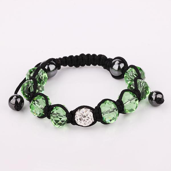 Menor preço de varejo 11 cor Liberdade escolha bola de discoteca pave contas pulseiras de cristal jóias pulseiras Mão tecido amizade