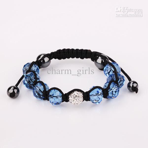 Stock bas prix des ventes EMS Rapid Transit 100pcs 10mm boule de disco pavent des perles bracelets en cristal bijoux