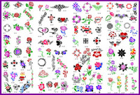 Wholesale Airbrush Tattoo Face Stencils - lastest new fashion Hot unit10 golden phoenix temporary AIRBRUSH TATTOO STENCIL BOOK 100 pictures