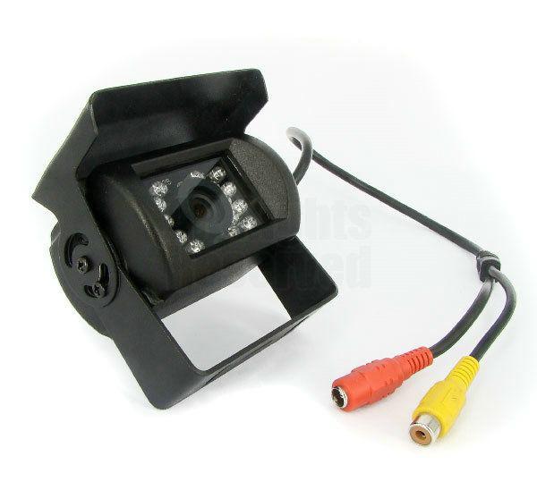 18 IR LED CCDリバースカメラ12V / 24V + 4.3