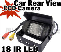 Wholesale Truck Bus Rear Cameras - WATERPROOF IP67 18 LED IR NIGHT VISION CCD CAR REAR VIEW REVERSING CAMERA 12V 120 DEGREE WIDE ANGLE For BUS TRUCK