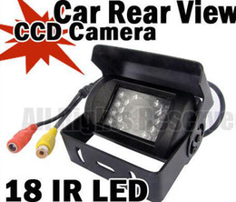 Wholesale Rear View Camera Ccd - WATERPROOF IP67 18 LED IR NIGHT VISION CCD CAR REAR VIEW REVERSING CAMERA 12V 120 DEGREE WIDE ANGLE For BUS TRUCK
