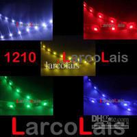 Wholesale Truck Led Strips - 50pcs 12V 1210 3528 Truck SMD 30cm Car Flexible LED Strip Lights Light Red Blue White Green Amber