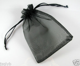 Wholesale Black Organza Gift Bags - 500pcs 7x9cm Black jewelry gift pouch wedding organza bags Wedding Favor Party
