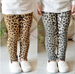 Wholesale Dandys Leggings - Children Leggings   girls Classic Leopard leggings  girls fashion long pants---Factory Direct, 5pcs lot , dandys