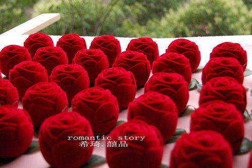Red Rose Favor Box/Wedding Favours/Bomboniere Boxes/Bridal Shower ...