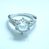 Free Shipping GORGEOUS 3. 1CT SAPPHIRE 14KT WHITE GOLD RING -...