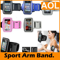 Wholesale Phone 4g Band - Sports Gym Arm Band Case Cover Armband Case Phone Holder For 2 3g3gs 4g 4 ,touch 2 3 4.Five colors