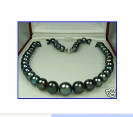 좋아요 GENUINE9-10MM BLACK PEARL NECKLACE 14k