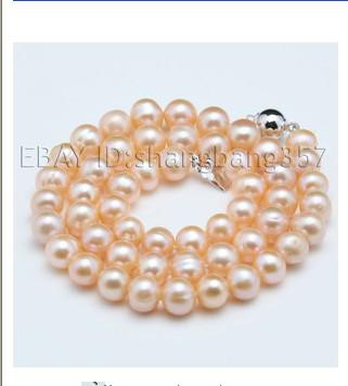 best buy beautiful 8-9mm natural pink akoya pearls necklace 45cm length