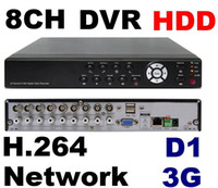 Wholesale H 264 D1 Ch - Free shipping 8 ch H.264 network cctv dvr D1 DVR Network Digital Video Recorder Support 1T HDD