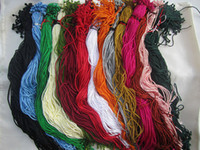 Wholesale Twisted Cord Necklaces - Wholesale--19inch 2mm assorted Color (15color) twist silk DIY necklace cord 150pieces lot