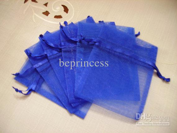 9X12cm Royal Blue jewelry gift pouch wedding organza bags Wedding Favor Party