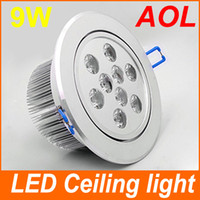Wholesale Metal Ceiling Material - 1PCS 9W LED Ceiling Light Down Recessed Lamp Warm White High Quality Metal Materials No Flashing