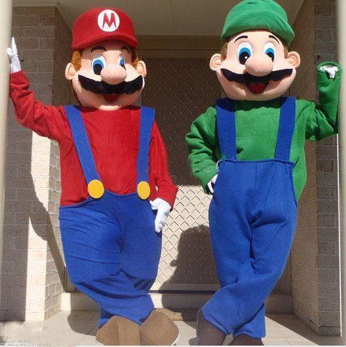 Adult Epe Super Mario And Luigi Mascot Costumes Fancy Dress ...