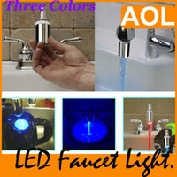 Wholesale Light Sensitive Water Tap - 2012 LED Stream Adapter for Faucet Tap Sensitive Water Light Chamber Other shower Accessories,1pcs
