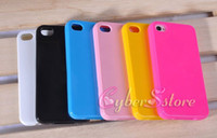 Wholesale Glossy Case Iphone 4s - For iphone 5 6 6S Solid Color Soft Glossy TPU Gel Case Cover For iPhone 4 4s 6plus